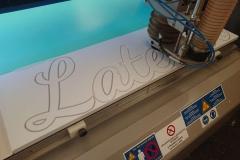 Découpe de lettres PVC expansé